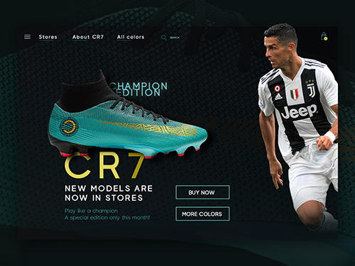 CR7 Ronaldo shoes product page e-commerce