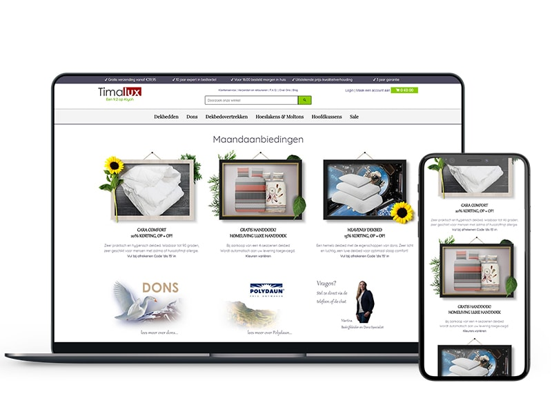 Timalux webshop redesign